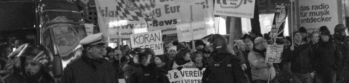 BAGIDA Aufmarsch und Gegenproteste