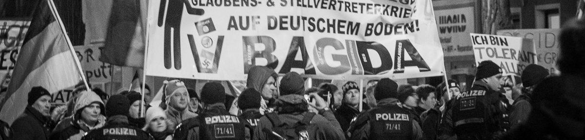 BAGIDA Marsch und Gegenproteste