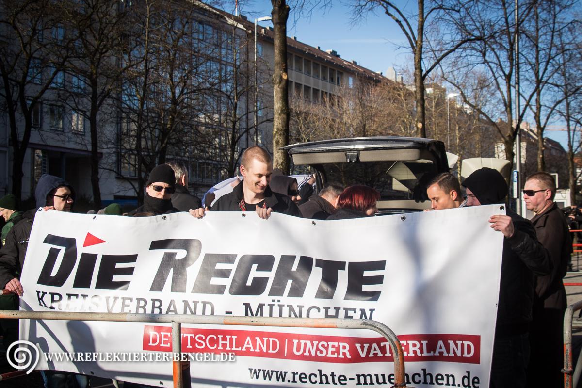03.03.15 München – Neonazi Kundgebung gegen den NSU-Prozess