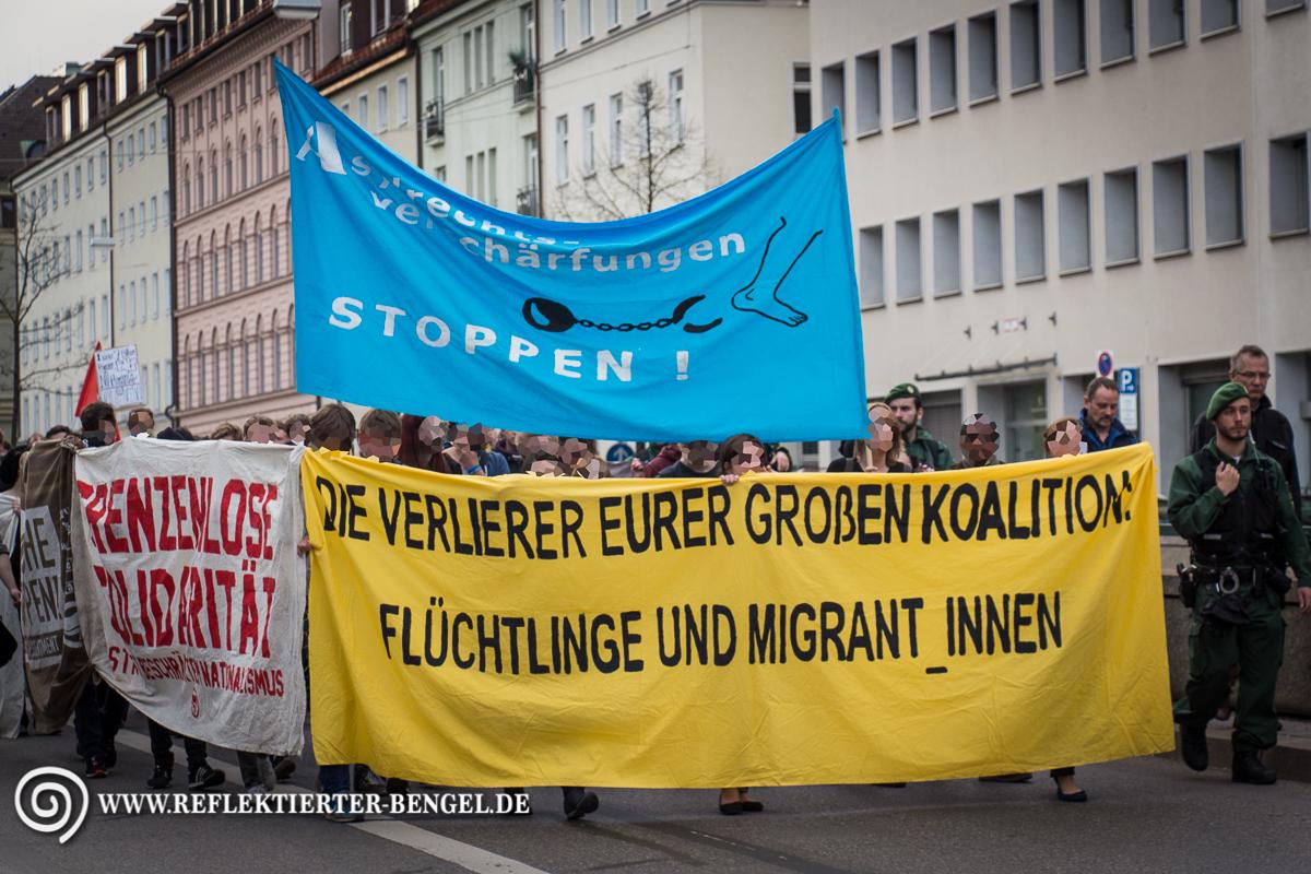 Demonstrationszug auf dem Altstadtring
