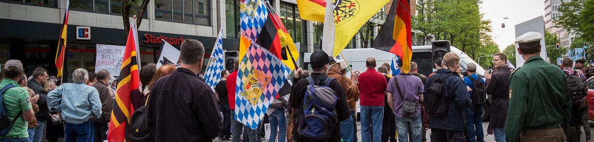 14. Pegida München Aufmarsch
