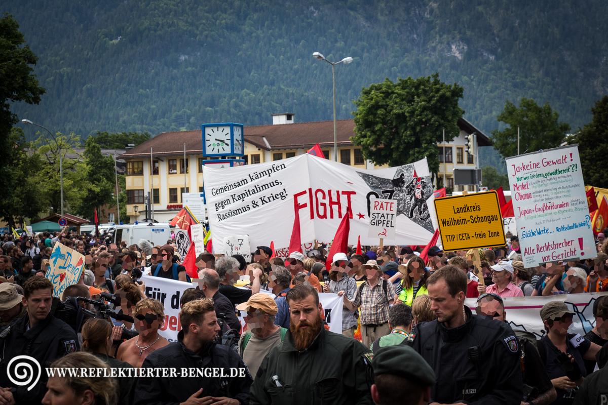 06.06.15 Garmisch Partenkirchen - Stop G7 Demo