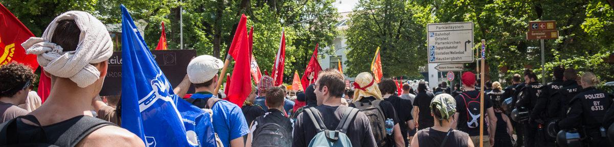 Stop G7 Demo in Garmisch Partenkirchen