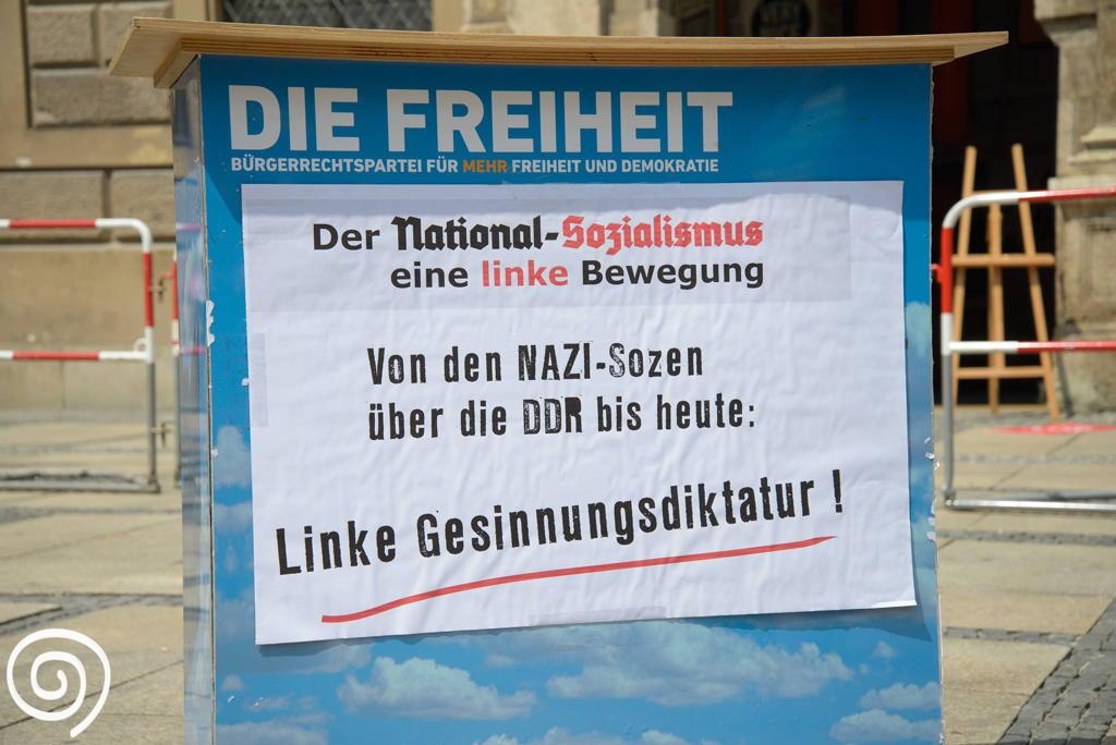 """Die Freiheit wird nicht müde zu behaupten die Nationalsozialisten wären """"links"""" gewesen."""