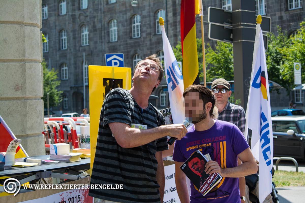 17.07.15 München - Die Freiheit Kundgebung, Michael Stürzenberger