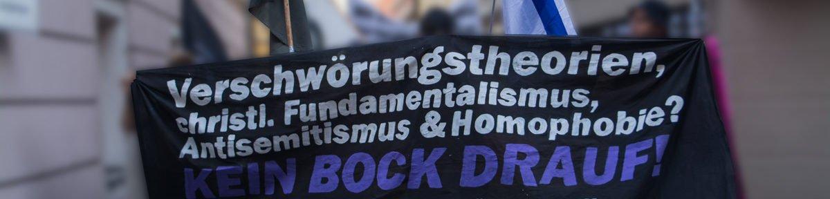 Demo gegen den Auftritt von Xavier Naidoo