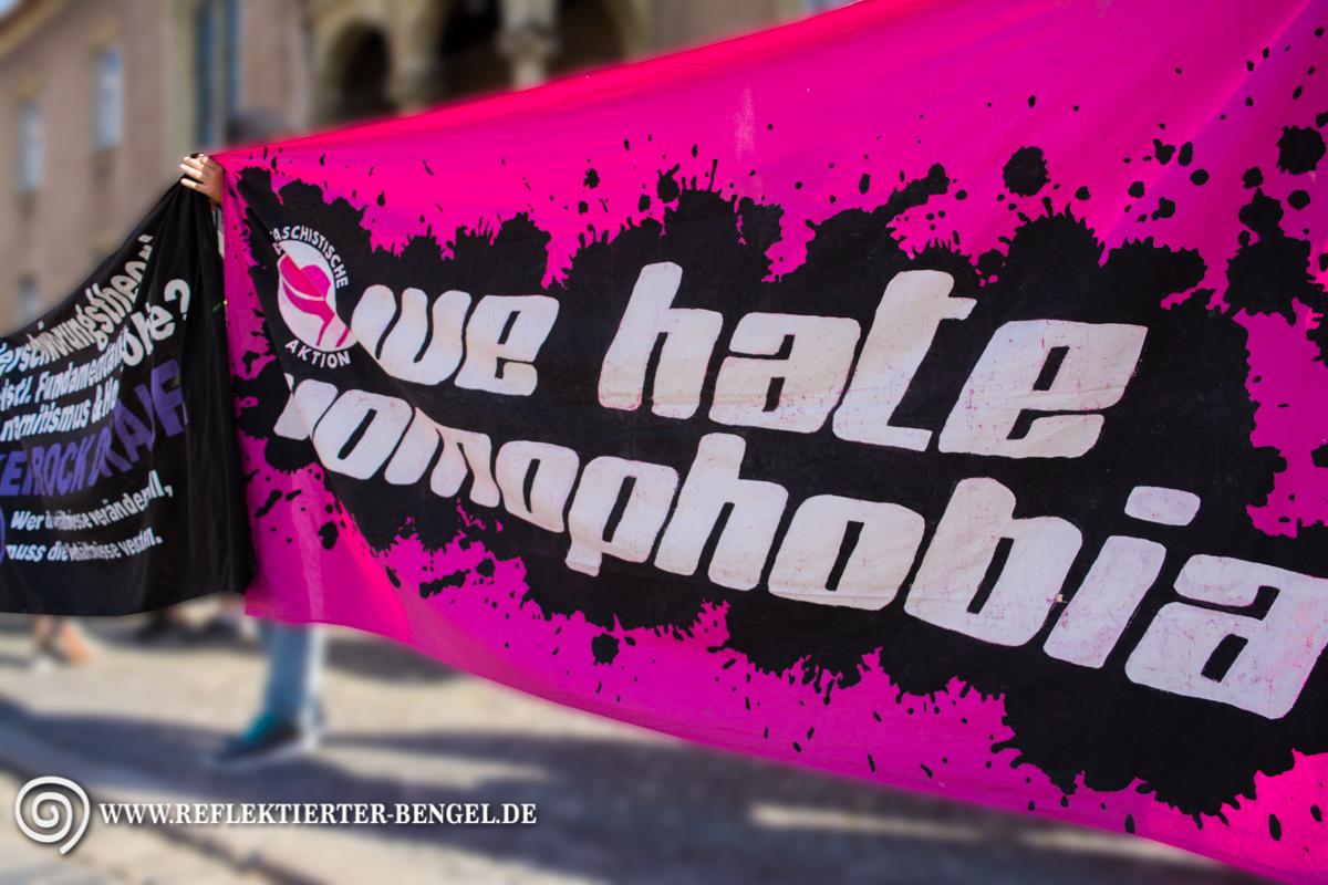 25.07.15 Regensburg - Demo gegen den Auftritt von Xavier Naidoo