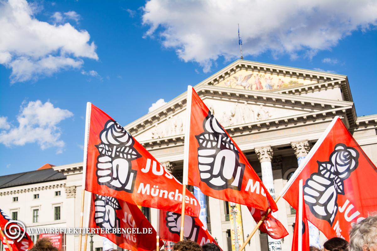 27.07.15 München - Kundegbung Platz da! Mia san ned nur mia