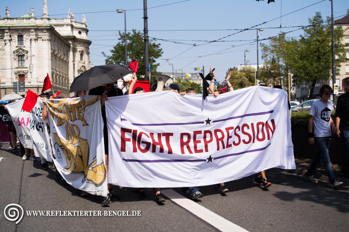08.08.15 München - Demo Freiheit für Paul