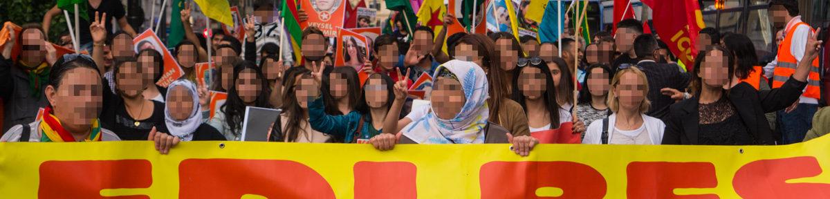 Demo gegen die Militär-Offensive der Türkei