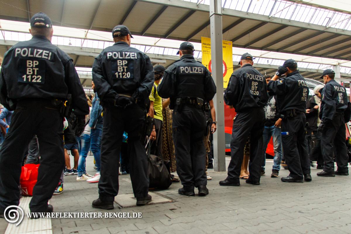 02.09.15 München - Geflüchtete am Hbf