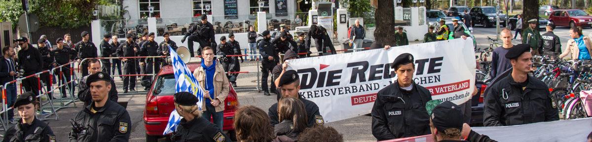 Festnahmen bei die Rechte Kundgebung