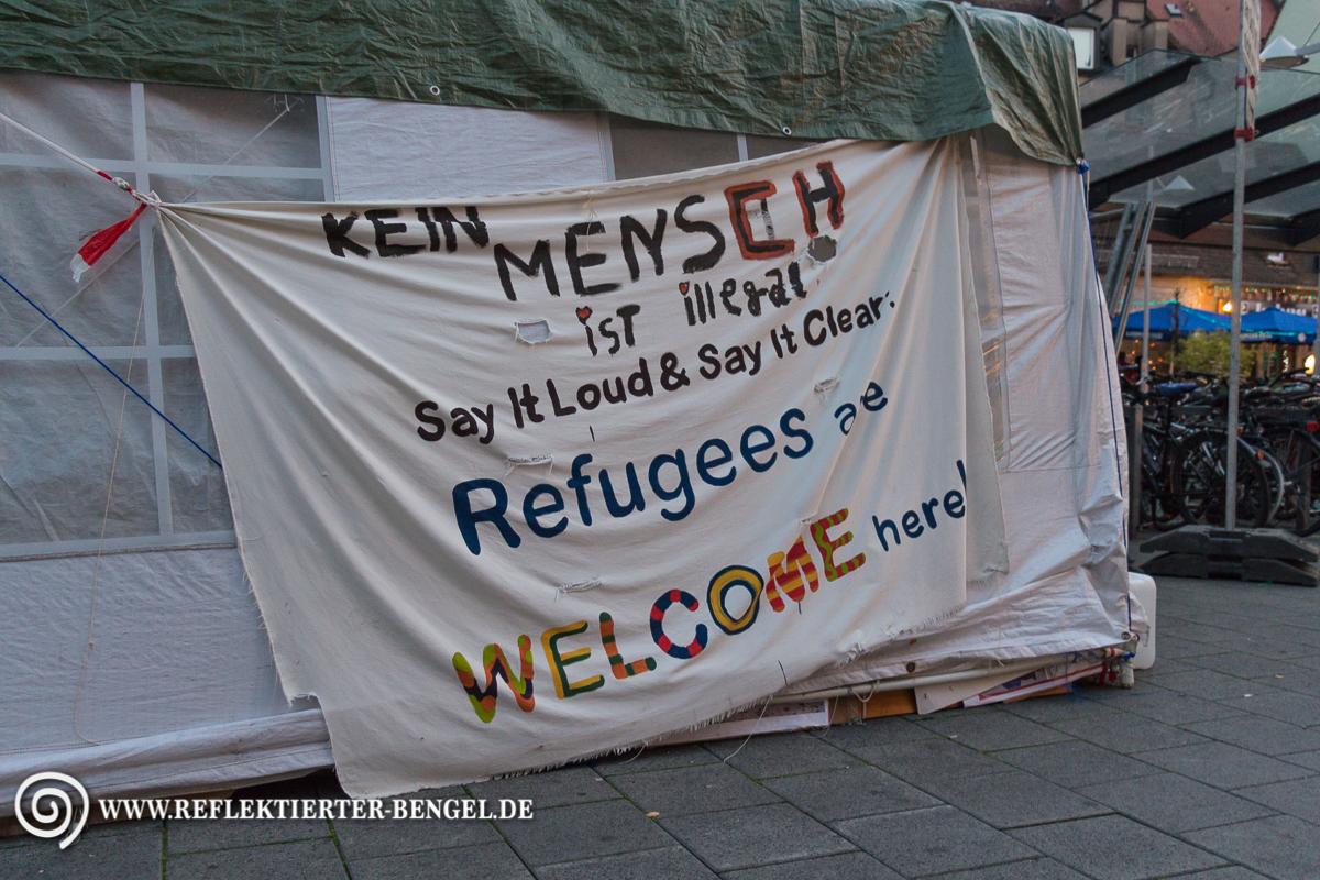 Flüchtlinge beenden Hungerstreik in Nürnberg