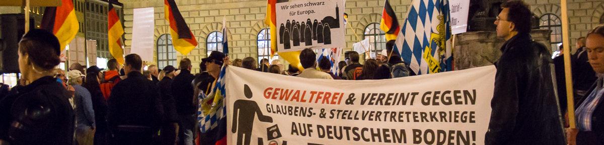 Pegida München – Marsch zum Siegestor