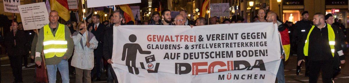 Neue Töne – Pegida München wirbt für Bürgerwehr