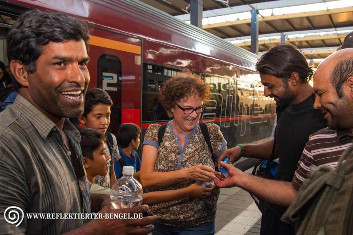 31.08.15 München - Geflüchtete am Hbf