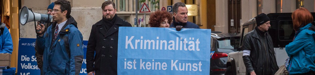 "AfD Kundgebung gegen ""Open Border Kongress"""