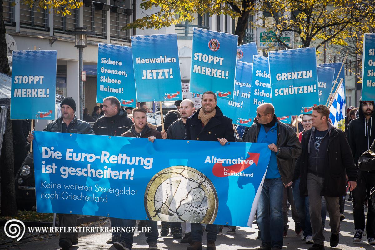 17.10.15 Freilassing - AfD Demonstration Petr Bystron Florian Jäger