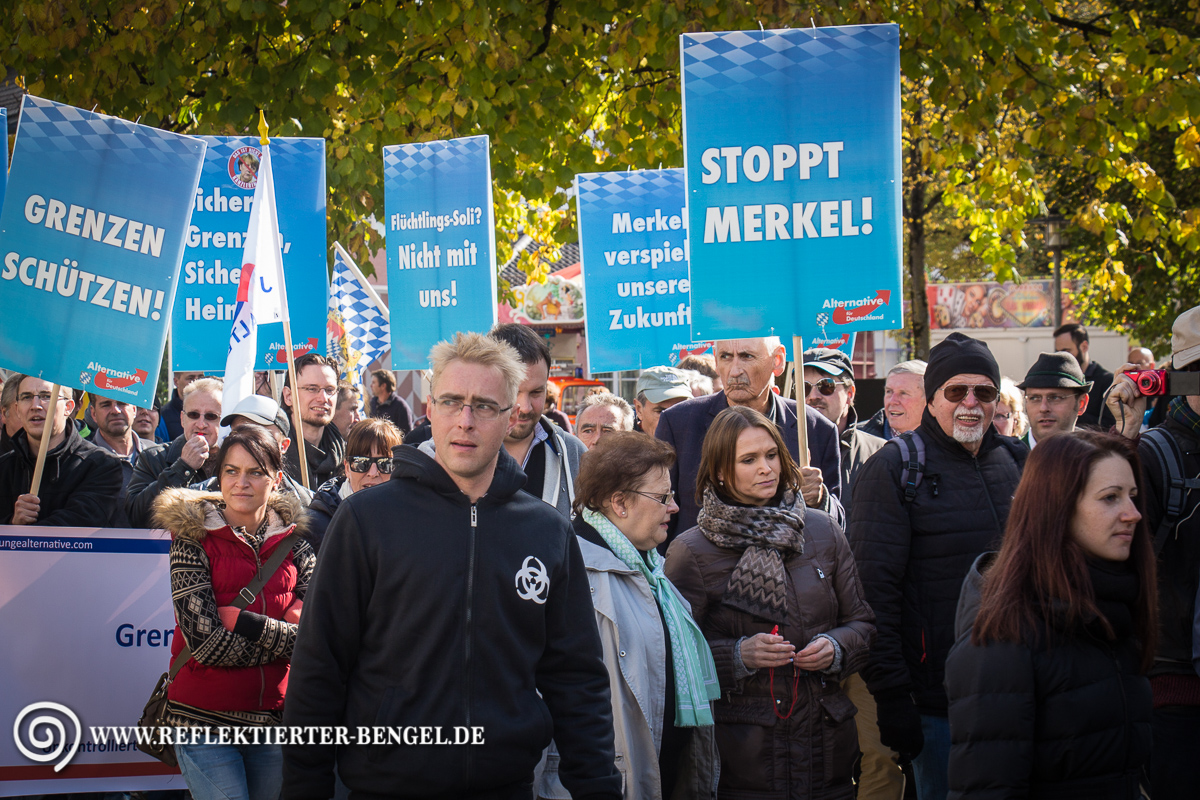 17.10.15 Freilassing - AfD Demonstration Peter Meidl
