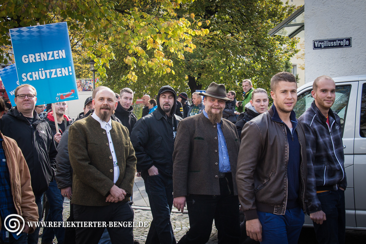 17.10.15 Freilassing - AfD Demonstration Mathias H. Alexander D.