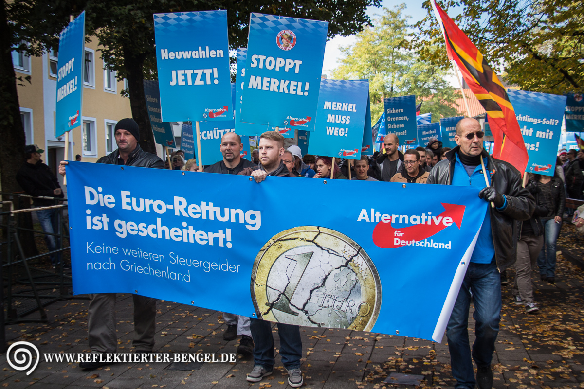 17.10.15 Freilassing - AfD Demonstration