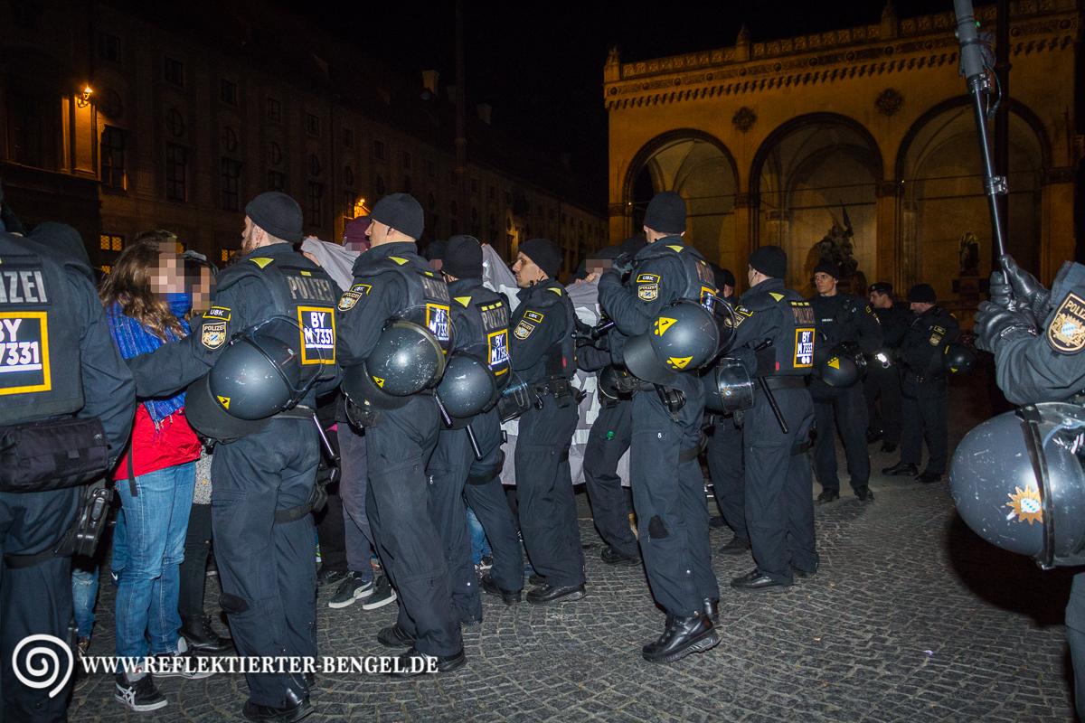Pegida München Blockade