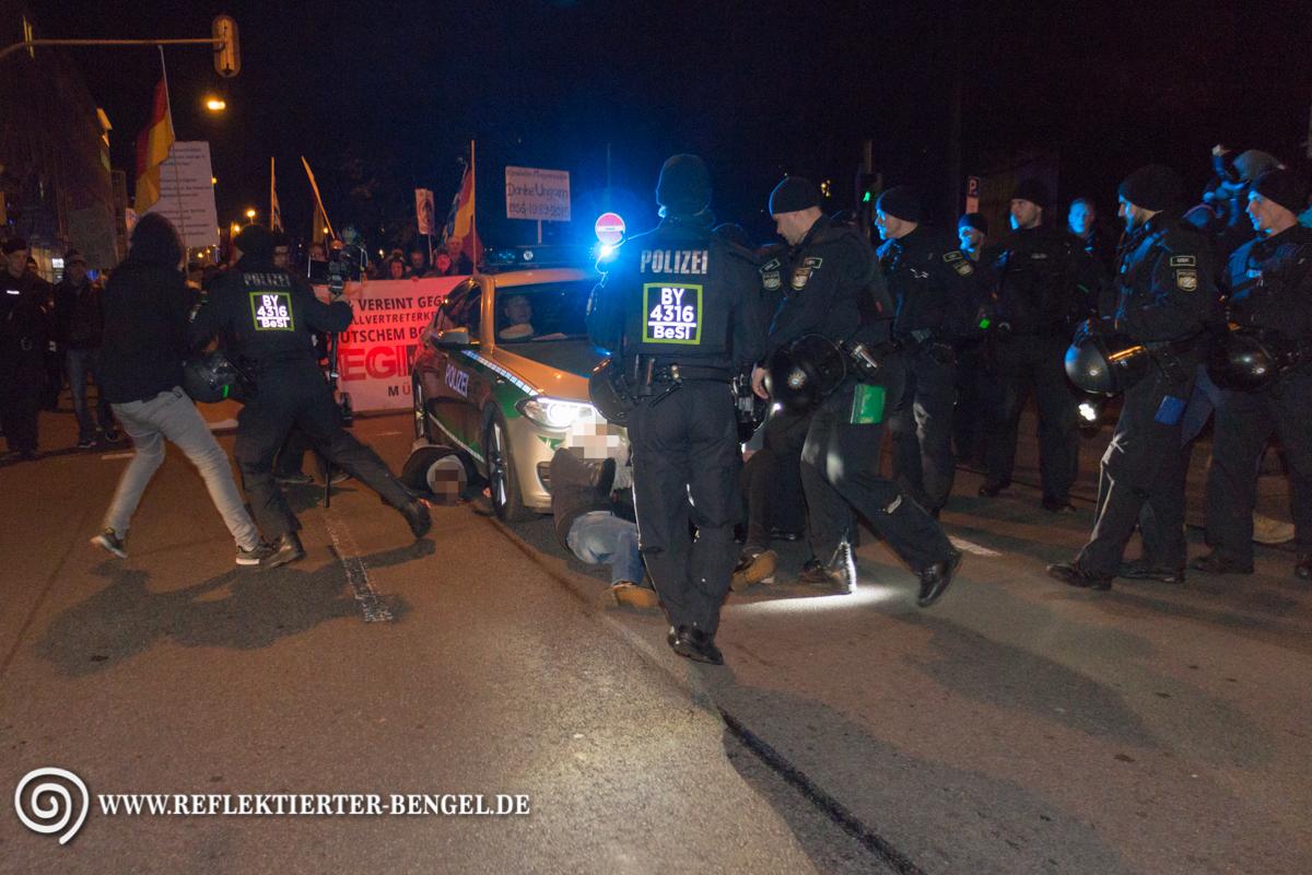 Gegendemonstranten Pegida München