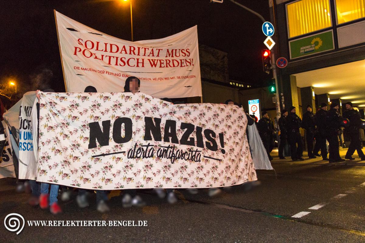 Demonstration gegen Pegida München