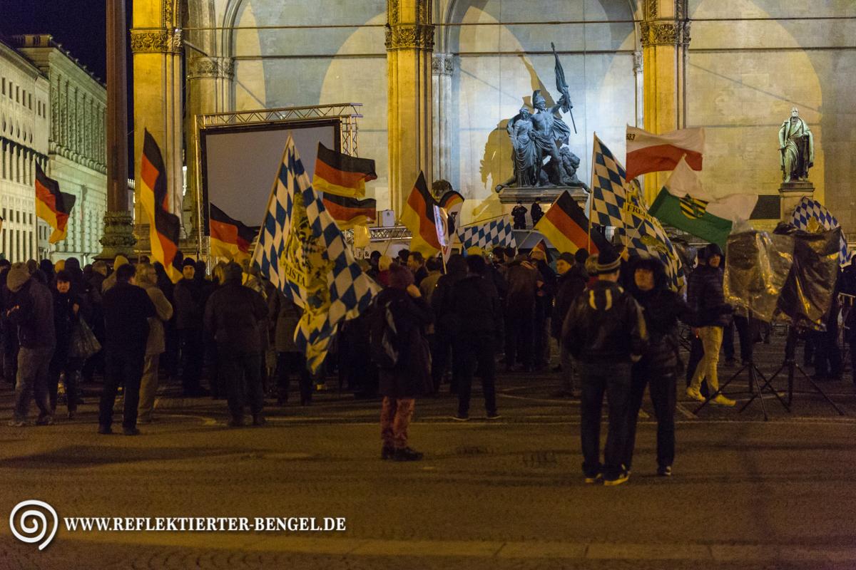 Pegida München demonstrierte erneut vor der Feldherrnhalle