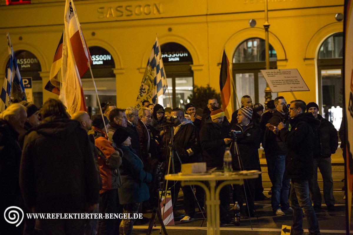 Pegida München Kundgebung am Odeonsplatz