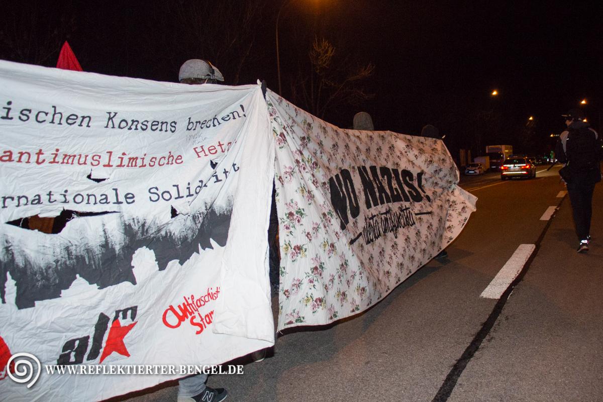 06.03.16 München - Spontandemonstration in Milbertshofen
