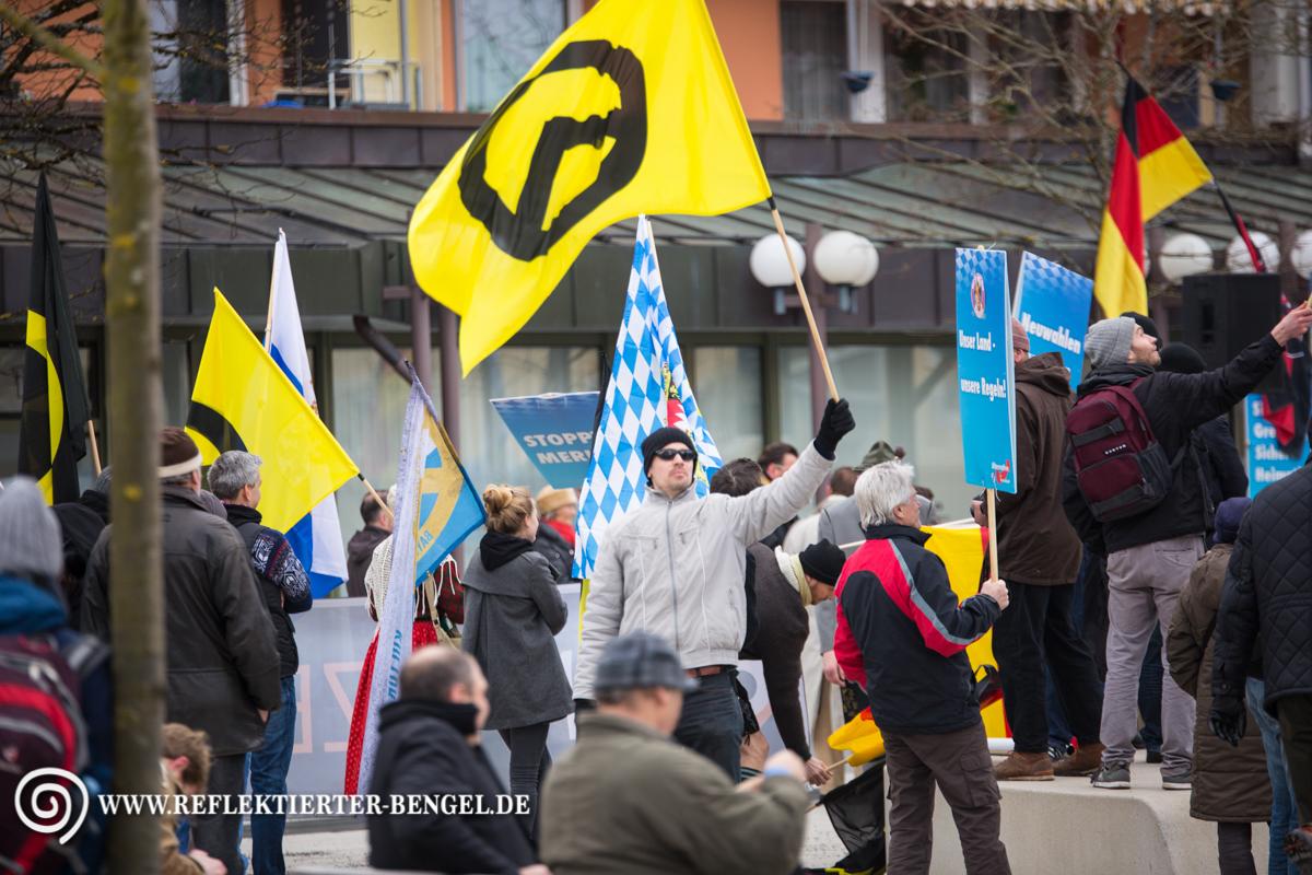 12.03.16 Geretsried - AfD Kundgebung, Identitären Bewegung