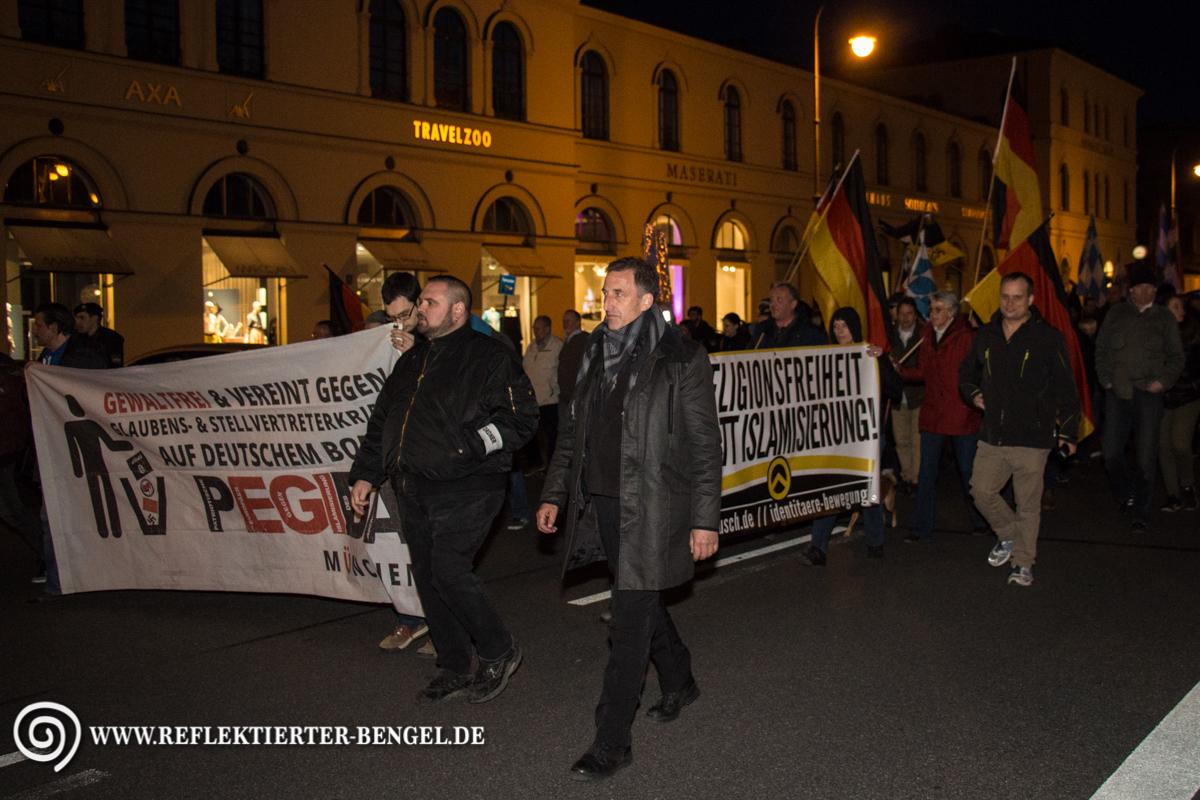 28.03.16 München - Pegida München, Heinz Meyer, Stefan S.