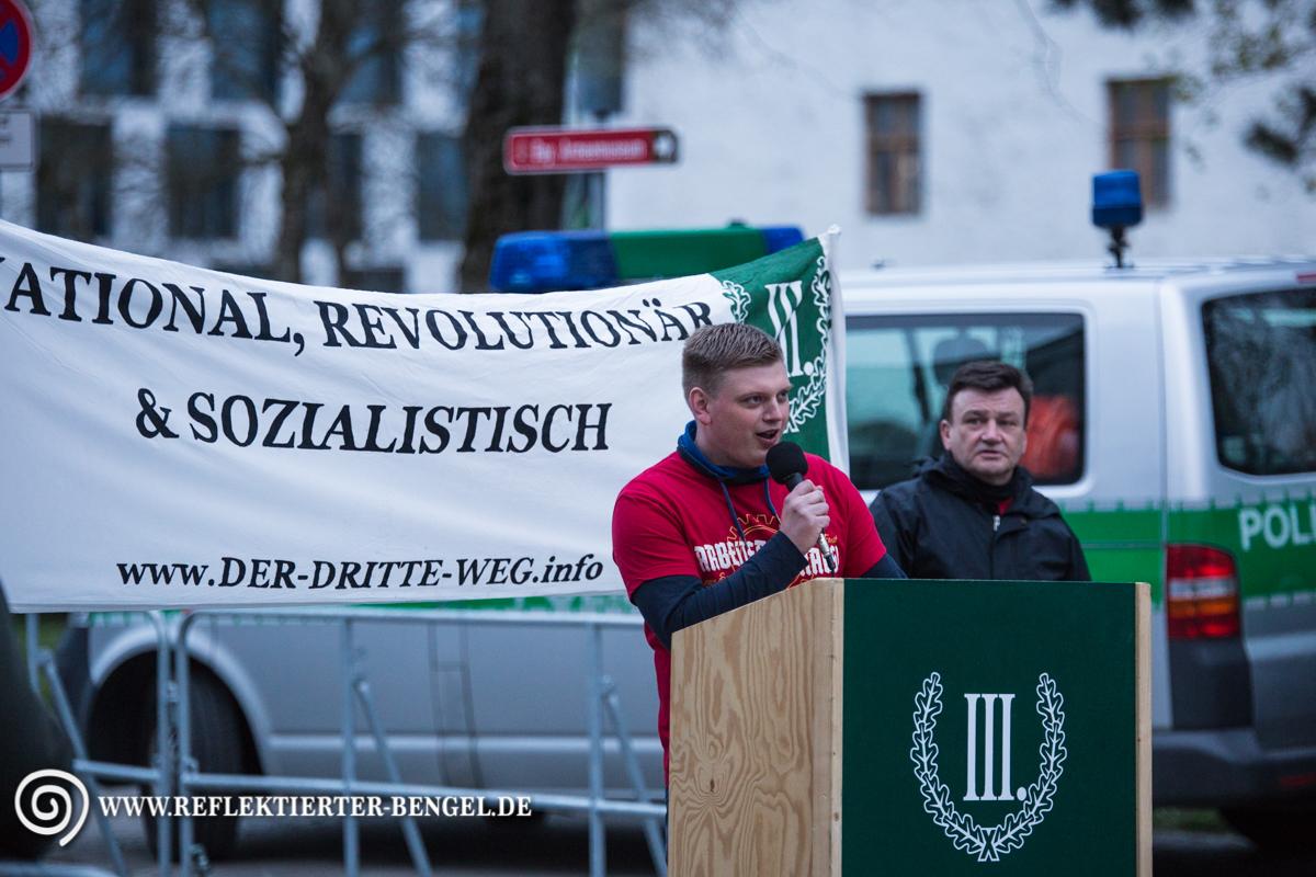 09.04.16 Ingolstadt - Der III. Weg Demonstration, Walter Strohmeier