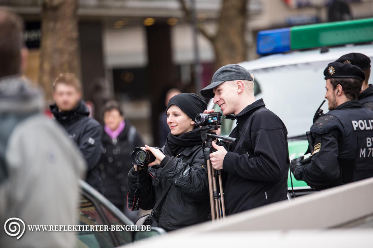 09.04.16 München - Der III. Weg Kundgebung, Thomas Schatt, Tirza M.
