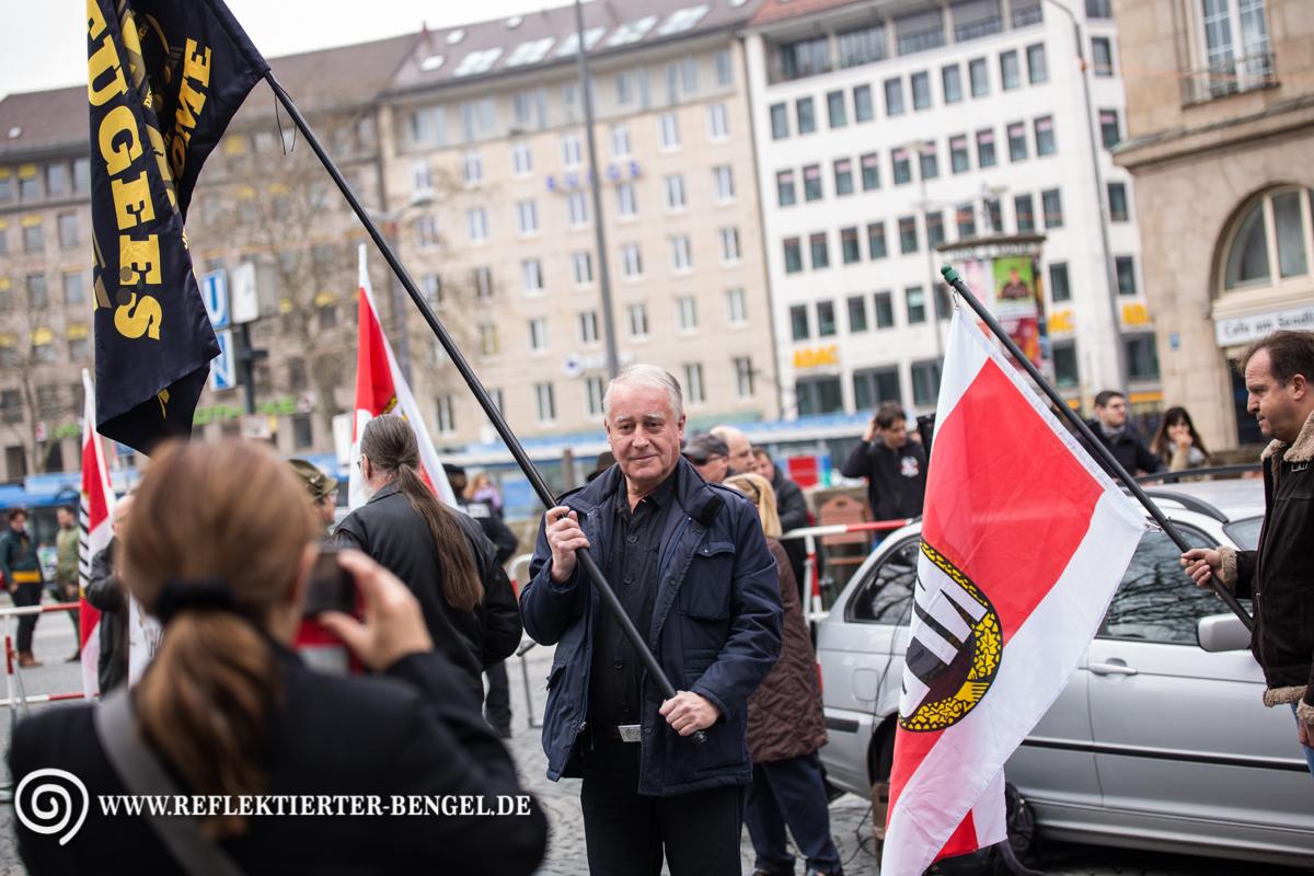 09.04.16 München - NPD Kundgebung, Manfred Schiessl