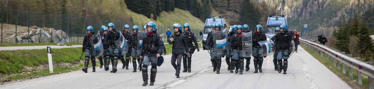 Demo gegen Grenzkontrollen endet in Ausschreitungen