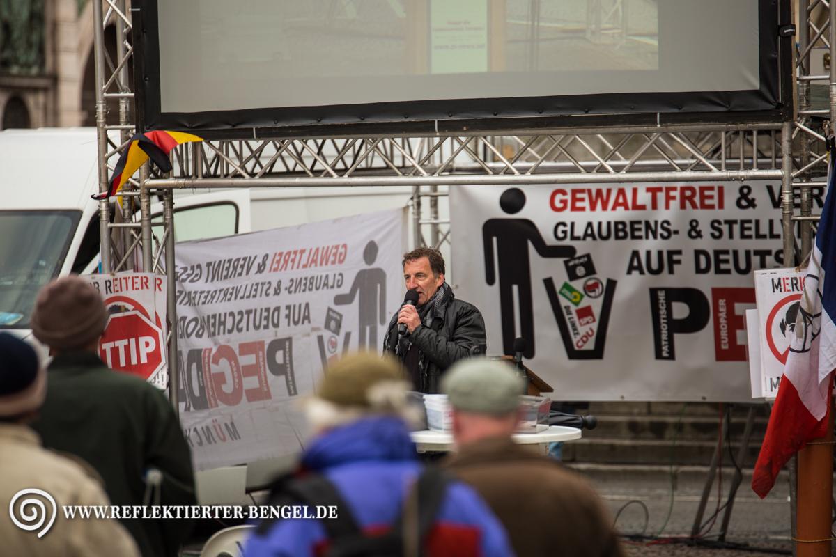 25.04.16 München - Pegida München, Heinz Meyer