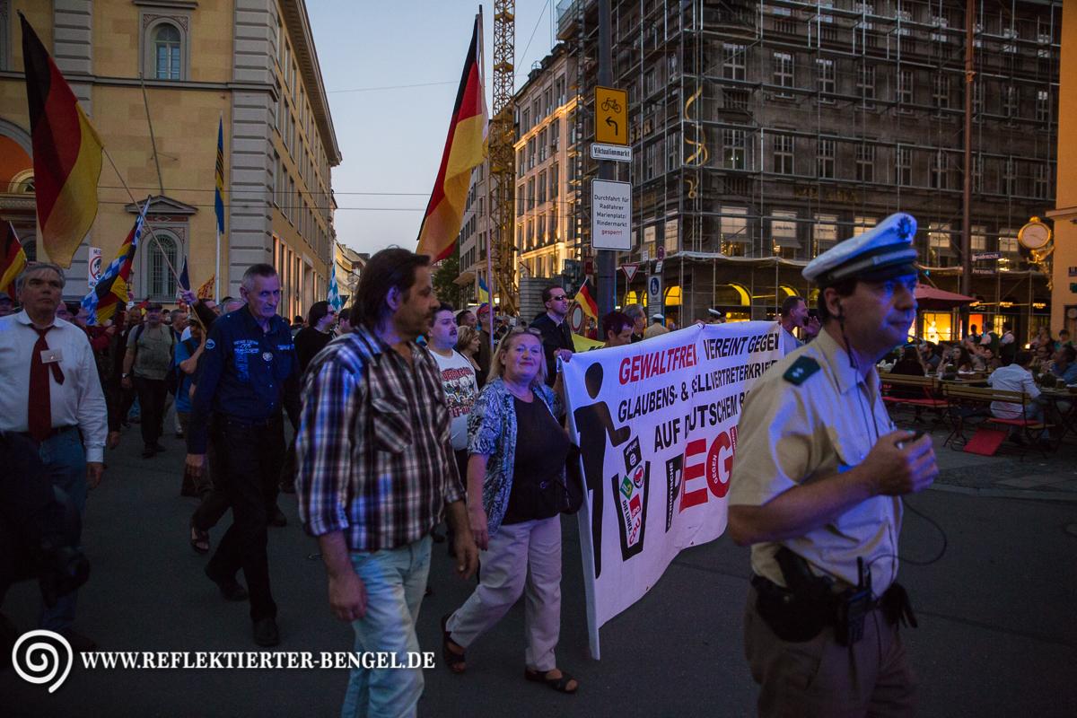 18.07.16 München - Pegida München, Renate Werlberger
