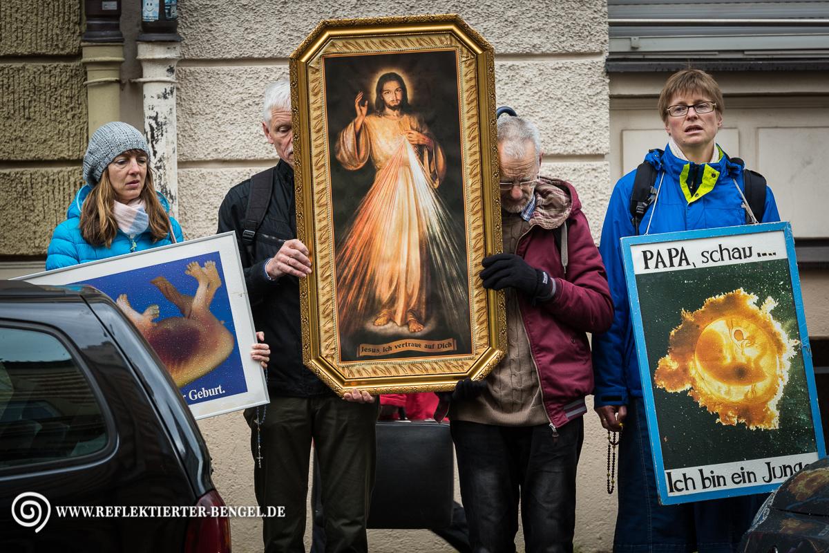25.04.17 München - Prozession christlich fundamentalistischer Lebensschützer*innen