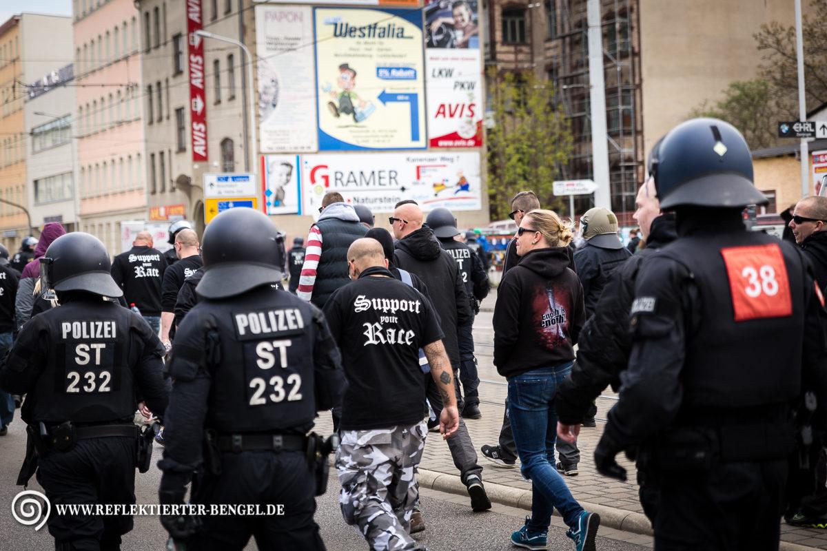 01.05.17 Halle - Neonaziaufmarsch und Gegenproteste Aryans