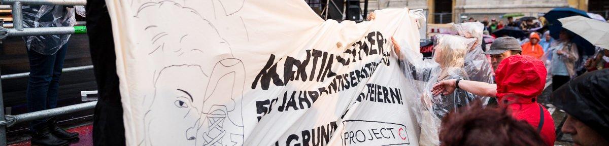 Antifaschist*innen stören Reformationsjubiläum