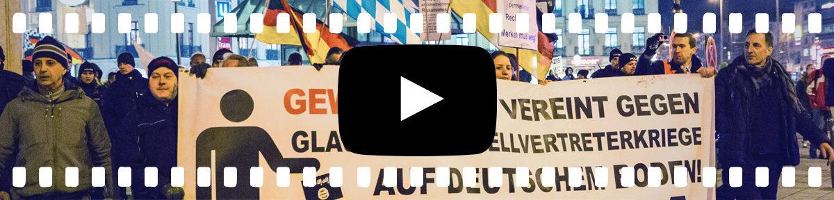 Neonazis führen Pegida Demo an