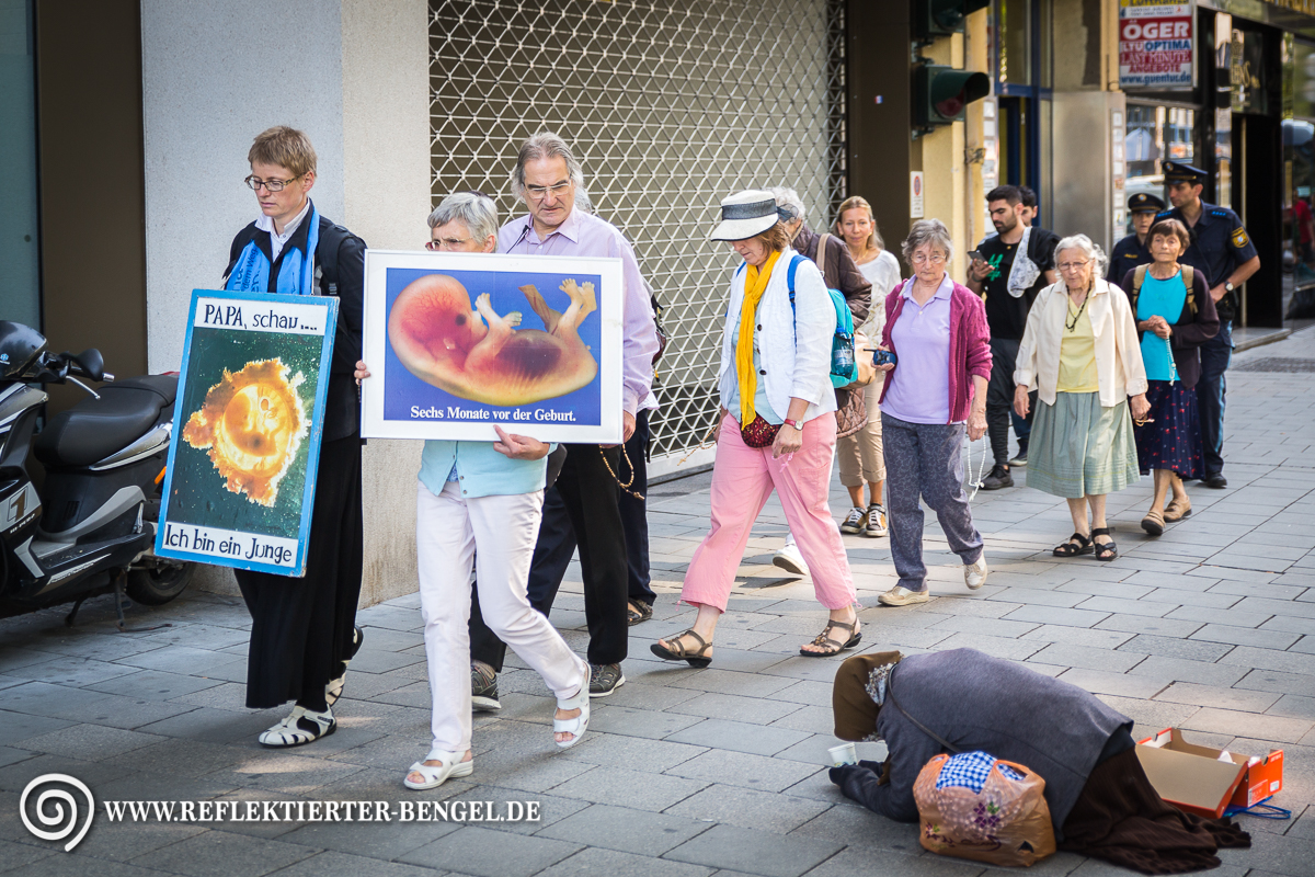 25.08.17 München - Demo christlich fundamentalistischer Abtreibungsgegner*innen