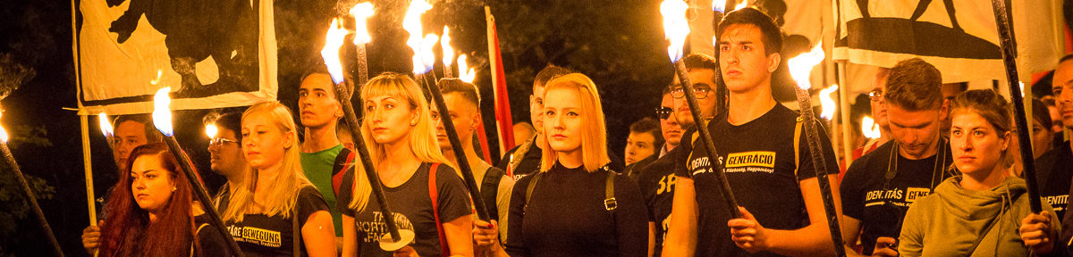 Identitäre Bewegung demonstriert am Kahlenberg