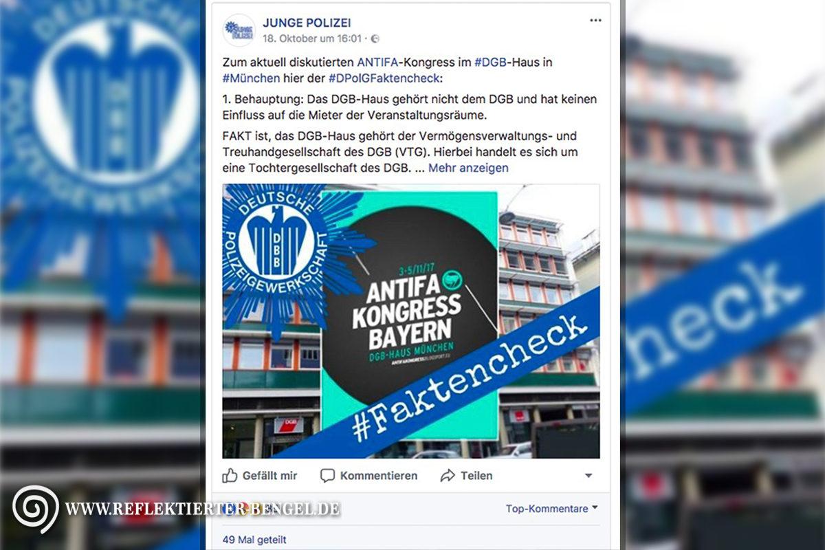 Junge Polizei Antifa Kongress Bayern DGB Haus München