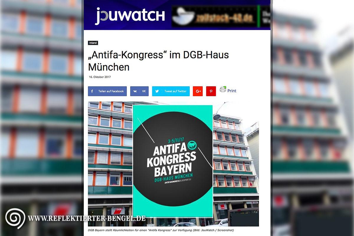 Journalistenwatch Antifa Kongress Bayern DGB Haus München