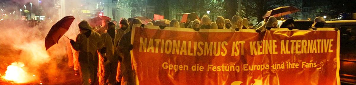 Proteste gegen AfD Parteitag in Hannover