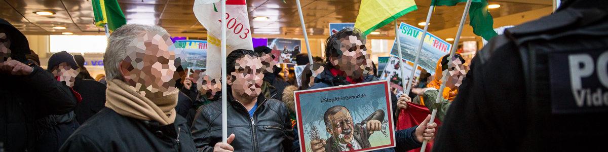 Protestaktionen für Afrin in Hannover