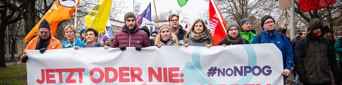 Hannover: Demonstration gegen neues Polizeigesetz